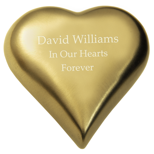 Wholesale Cremation Keepsake: Brass Heart