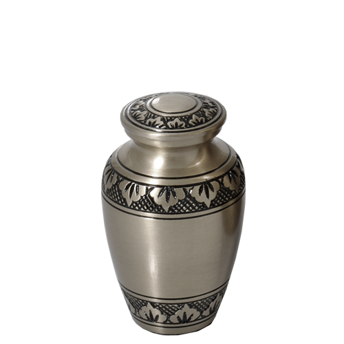 Wholesale Urn Keepsake: Tranquil Forest Pewter