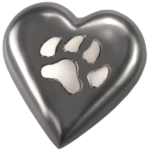 Wholesale Pet Urn Keepake: Black Pawprint Heart