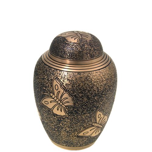 Wholesale Cremation Urns: Golden Butterflies Sharing Urn