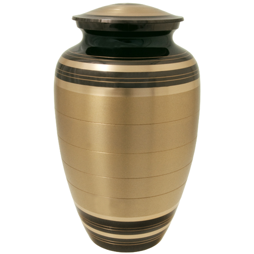 Wholesale Cremation Urns: Black and Brass Urn