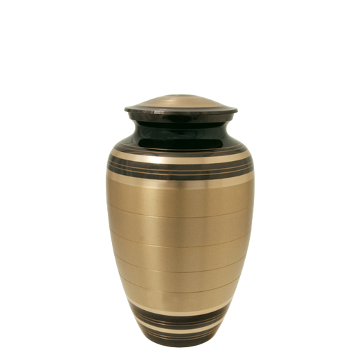 Wholesale Cremation Urns: Black and Brass Sharing Urn- 6