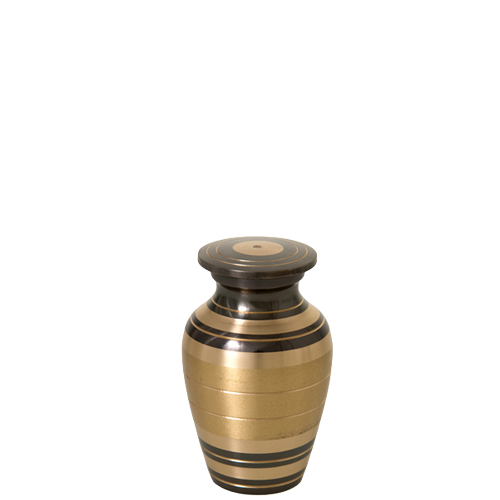 Wholesale Cremation Keepsake: Black and Brass Stripe