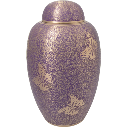 Wholesale Cremation Urns: Butterflies-Purple full-size urn