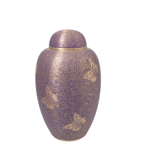 Wholesale Cremation Urns: Butterflies Purple Sharing Urn