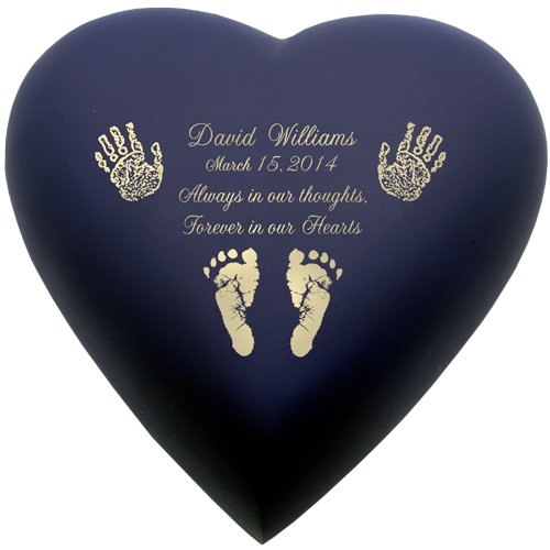 Brass Heart Blue Nightfall- Actual Hands or Feet