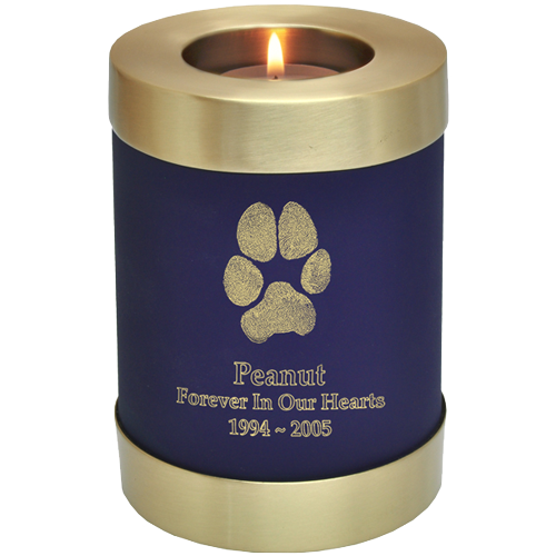 Wholesale Pet Urn: Candle Holder Urn with actual Paw Print