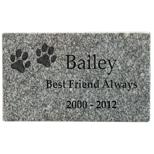 Wholesale Grey Granite Pet Headstone- 2