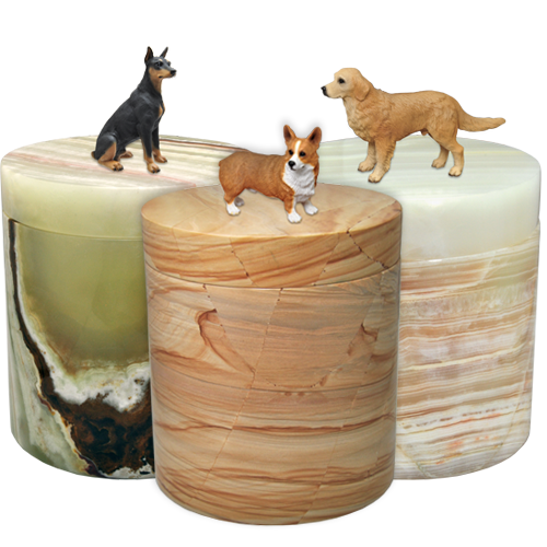 Wholesale Marble Pet Urn with Dog Figurine