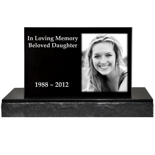 Wholesale Photo Laser Engraved Granite Headstone- Classic