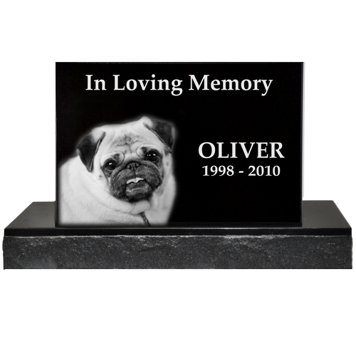 Wholesale Pet Photo Laser Engraved Granite Headstone- Classical