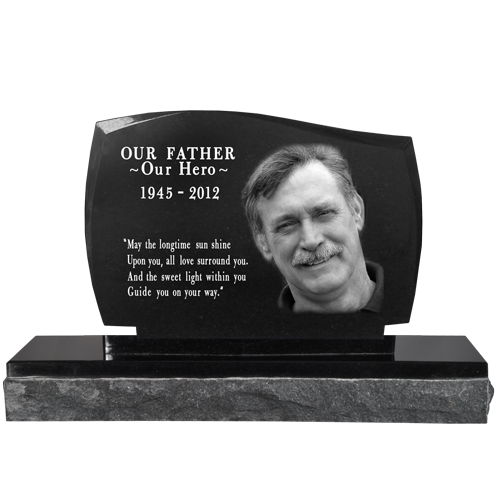 Wholesale Photo Laser Engraved Granite Headstone- Legacy