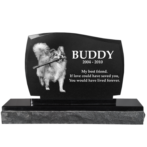 Wholesale Pet Photo Laser Engraved Granite Headstone- Legacy
