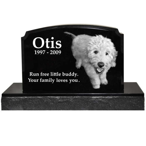 Wholesale Pet Photo Laser Engraved Granite Headstone- Traditional