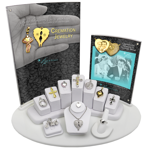 Wholesale Kin and Pebble 11- Piece Cremation Jewelry Display