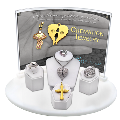 5- Piece Cremation Jewelry Display