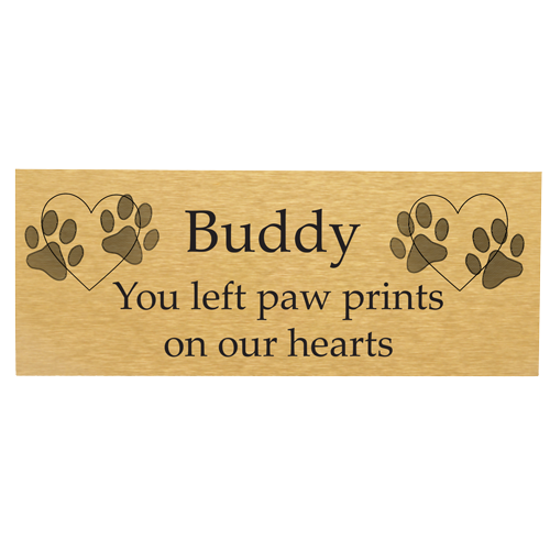 Wholesale Engraved Memorial Flexi-Plaque- Large Brass Finish block font