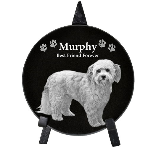 Wholesale Pet Photo Engraved Black Marble Circle