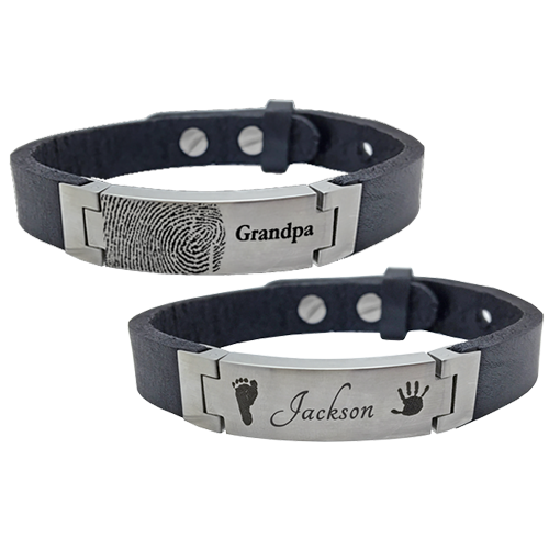 Wholesale Personalized Stainless Steel Leather Bracelet