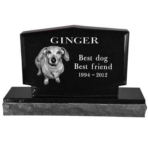 Wholesale Pet Photo Laser Engraved Granite Headstone- Diamond