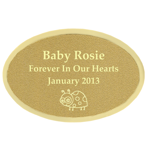 Wholesale Engraved Memorial Plaque- Small Brass Oval