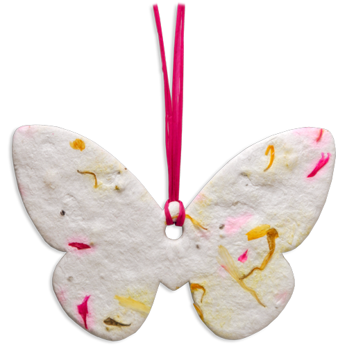 Wholesale Plantable Memorials: Large Butterfly- Pink