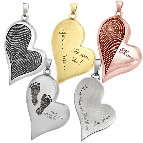 teardrop heart personalized samples