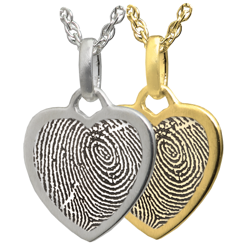 Wholesale Petite Heart Fingerprint Rim Jewelry in silver or gold
