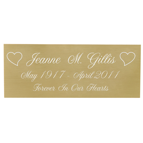 Wholesale Engraved Memorial Plaque- Large Brass Finish in script