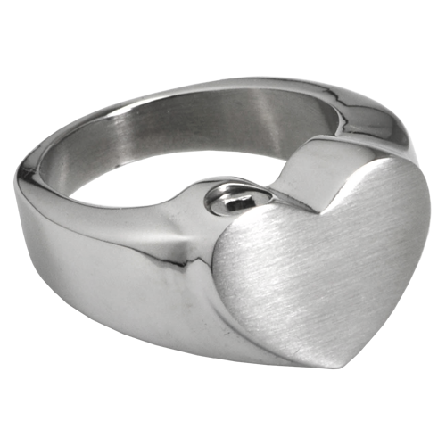 Wholesale Cremation Jewelry: Premium Stainless Steel Heart Ring