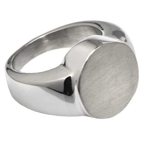 Wholesale Cremation Jewelry: Premium Stainless Steel Round Ring