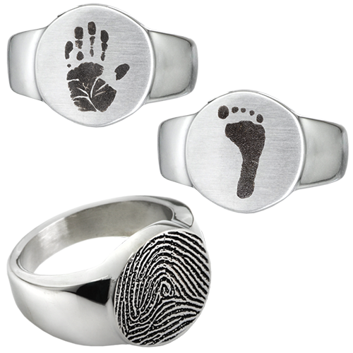 Personalized Stainless Steel Round Ring