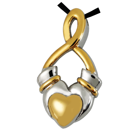 Wholesale Cremation Jewelry Premium Stainless Steel Claddagh Infinity