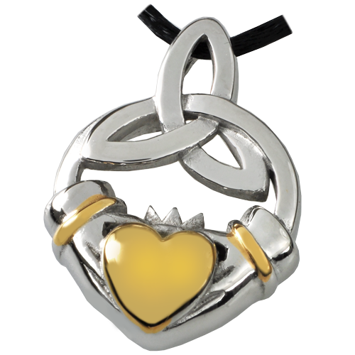 Wholesale Cremation Jewelry Premium Stainless Steel Claddagh Trinity Knot