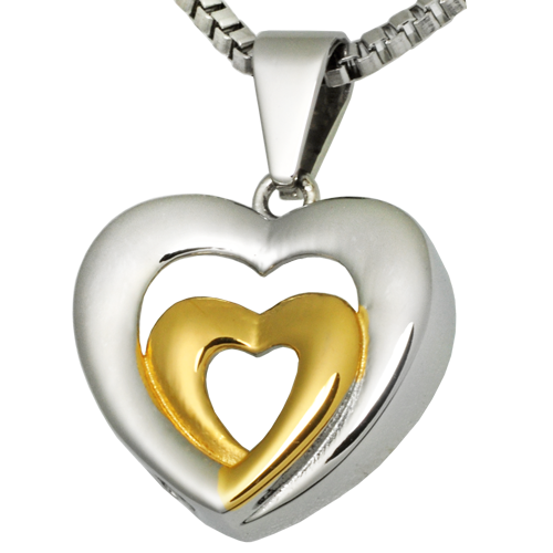 Wholesale Cremation Jewelry Stainless Steel Married Hearts