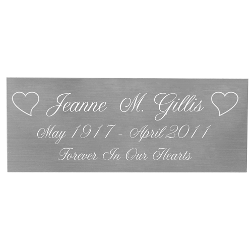 Wholesale Engraved Memorial Plaque- Small Silver Finish with script