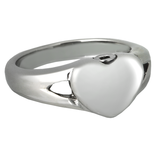 Wholesale Urn Jewelry: Premium Stainless Steel Simple Heart Ring