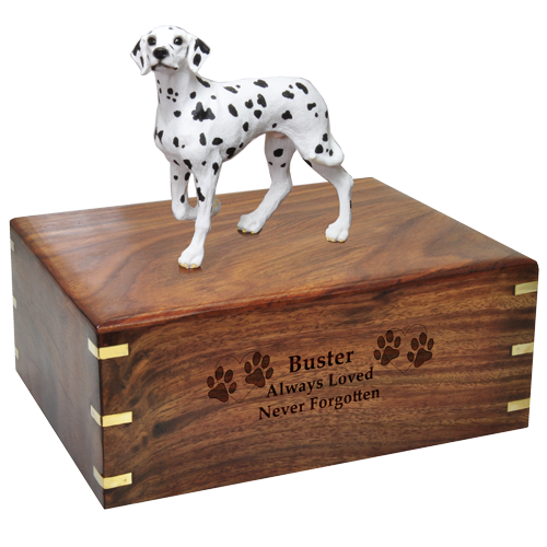 Wholesale Dalmatian urn engraved with name and message