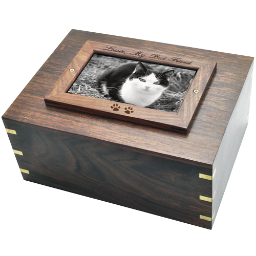 Wholesale Perfect Wooden Box Photo Frame Cat Urn XLarge