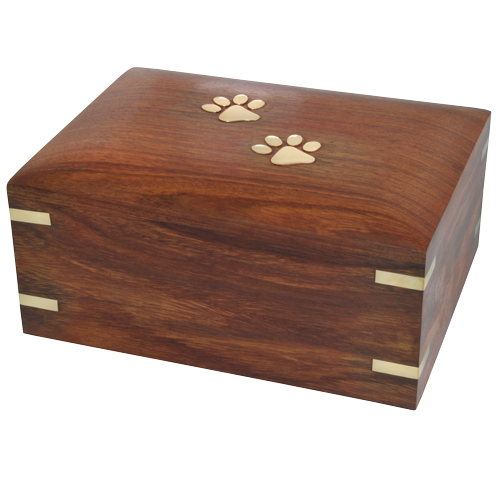 Wholesale Forever Paw Prints Wooden Box Pet Urn