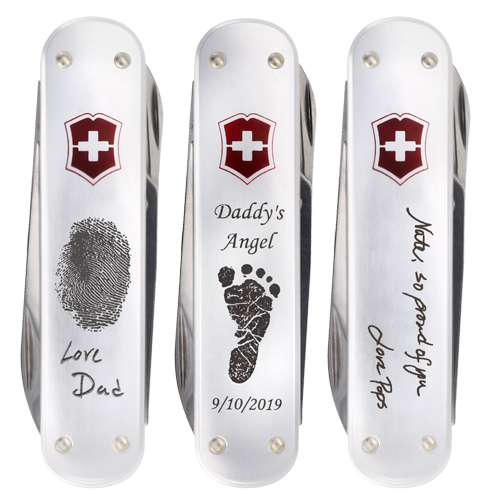 Swiss Army Money Clip and Multi-Tool personalized engravings