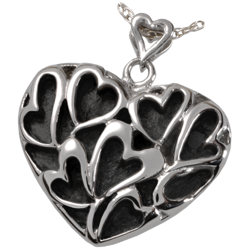 Wholesale Cremation Jewelry Premium Stainless Steel Heart of Hearts