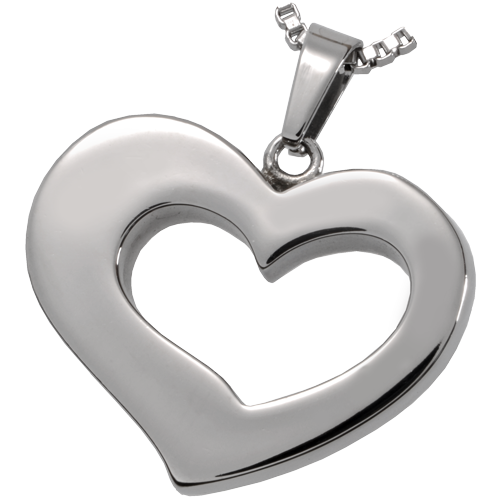 Wholesale Cremation Jewelry Stainless Steel Affectionate Heart
