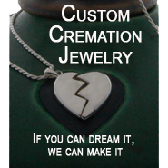 Custom cremation jewelry