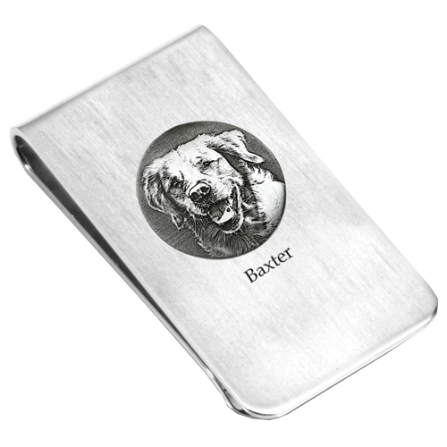 Wholesale Pet Photo Engraved Money Clip
