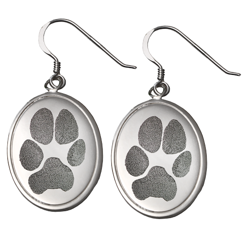Wholesale Pet Print Jewelry: Sterling Silver Earrings- Pawprints