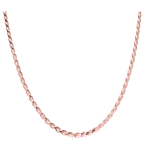Wholesale Rose Gold-Plated Rope Chain