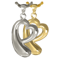 Wholesale Jewelry Heartfelt Tear of Love shown in silver and gold metals