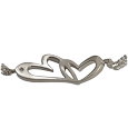 urn opening of linked in love heart pendant cremation jewelry bracelet