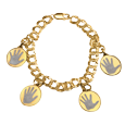Gold-Filled Double Link Bracelet with hand print charms